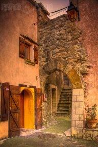 Ancient Village Gates in Minervois Village