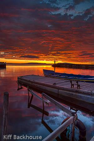 Dawn over Marseillan in the South of France