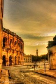 Nîmes Walkabout - a dawn view across the Roman Arena