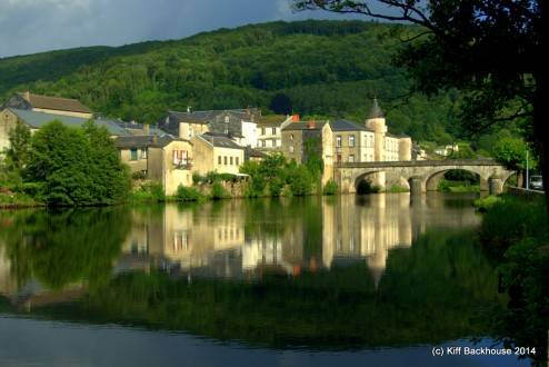 View across river to Brassac