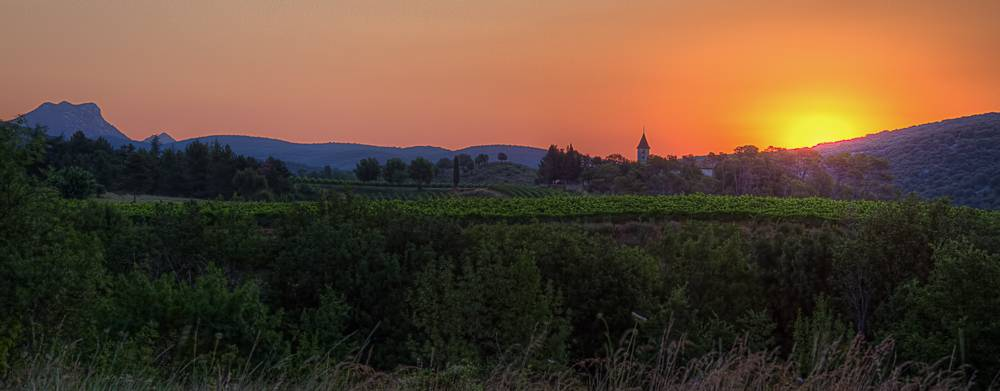 Sunrise over Chateau Sauzet