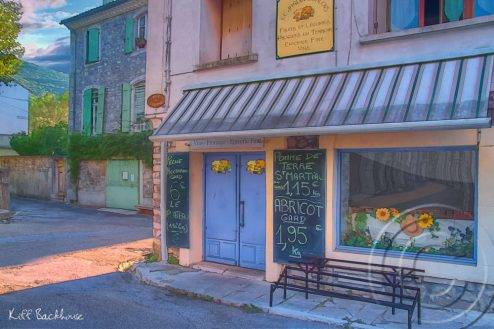 the epicerie shop front in the town of St Hippolyte le Fort